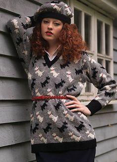Ravelry: Scotty Dog Sweater pattern by Sasha Kagan