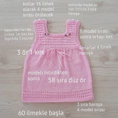 Baby Knit Dress Patterns – Knitting And We Baby Knitting Patterns, Baby Clothes Patterns, Dress Sewing Patterns, Clothing Patterns, Baby Cardigan, Knit Baby Dress, Baby Set, Easy Knitting, Baby Sweaters