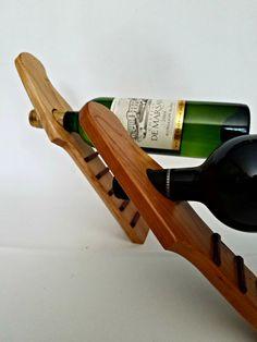 Wine Bottle Guitar Balancer by MRWoodCrafting on Etsy