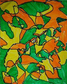 Adventures of an Art Teacher: 3rd Grade Leaf Designs