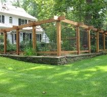 Fence-I want to do something like this. Not over the top but looks nice around a garden.