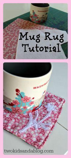 Mug Rug Tutorial - Two Kids and a Blog
