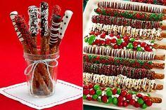Grisines con chocolate, decorados para fiestas infantiles