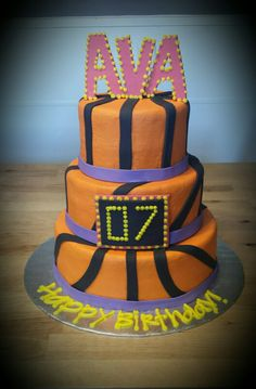 Girls Basketball Birthday Cake