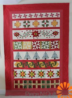 Piece N Quilt: Christmas Row Quilt #quilt #christmas