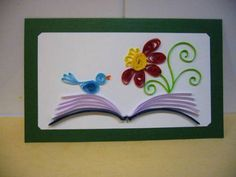Singing on the book - Quilled Creations Quilling Gallery