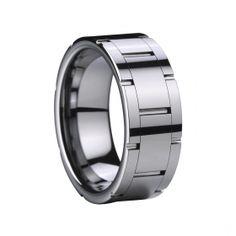 Poli carbure de tungstène Ring & Grooves Solde