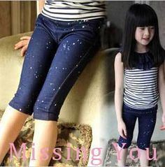 Aliexpress.com : Buy 2013 Summer Clothing Girls Korea Fashion Pants Casual Skinny Half Pants Trousers, Middle Pants, Free Shipping GP012 from Reliable Girls Summer Pants suppliers on Missing You Korea Fashion, Kids Fashion, Summer Outfits, Girl Outfits, Girl Korea, Summer Pants, Girls Pants, Summer Girls, Fashion Pants