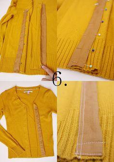 Sweater or shirt to cardigan tutorial