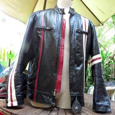Rare Wilsons M Julian Leather Motorcycle Racing Riding Jacket Sz L #WilsonsLeather #Motorcycle