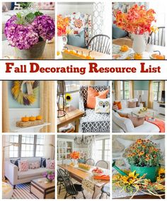 Great resources for cute fall decorating accents!