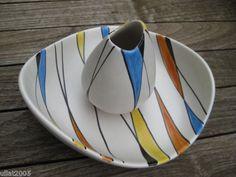 50 er Jahre Bay Keramik Set, Vase und Obstschale, Design vermutlich : Bodo Mans   eBay