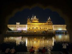 GOLDEN TEMPLE, INDIA  The Golden Temple in Amritsar, India, is a stunning structure that seems to have been dropped right in the middle of the Amritsar River.     - Munish Sharma / Reuters