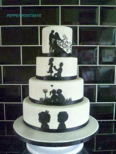 Wedding Cake ♡ ♡ ♡ - I think this may be my favorite wedding cake ever.