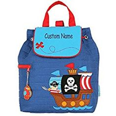 c5dbcc6a7cb5 Personalized Stephen Joseph Pirate Ship Embroidered Backpack