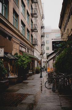Rainy Alley - Victoria, Canada