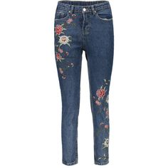 Shop for Floral Embroidered Relaxed Fit Jeans at ZAFUL. Free Shipping And Affordable Prices.