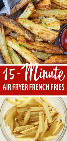 Make Crispy fries in your Air Fryer in just 15 minutes! You will love this recip. - Crazy for Side Dishes - Russian Best Side Dishes, Side Dish Recipes, Vegetable Side Dishes, Vegetable Recipes, Air Fryer French Fries, Crispy French Fries, Party Food And Drinks, Air Fryer Recipes, Food Dishes