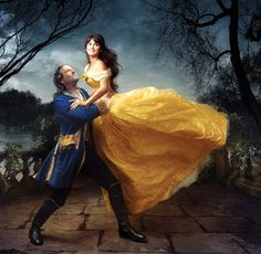 "Penelope Cruz and Jeff Bridges ""Beauty and the Beast"" for Disney Dream Portraits by Annie Liebovitz"