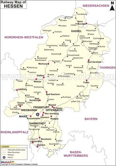 BadenWurttemberg Railway Map Germany Maps Pinterest Train