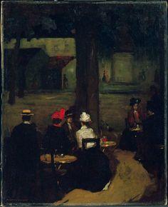 +Robert Henri, Sidewalk Café, c. 1899
