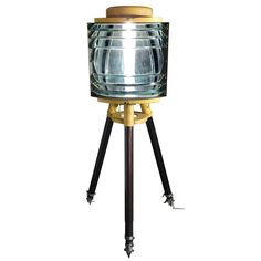 WWII Portable Lighthouse | From a unique collection of antique and modern floor lamps at https://www.1stdibs.com/furniture/lighting/floor-lamps/