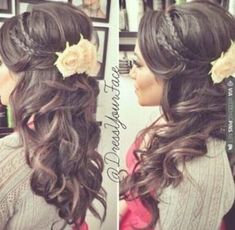 Wedding Hairstyles Half Up Half Down With Bump Prom 55 Super Ideas - All For Bridal Hair Pixie Wedding Hair, Half Up Wedding Hair, Wedding Hairstyles Half Up Half Down, Elegant Wedding Hair, Bridal Hair, Bride Hairstyles With Veil, My Hairstyle, Wedding Hairstyles For Long Hair, Bump Hairstyles