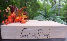 Rustic Wedding Large Cake Stand Love is Sweet by willowroaddesigns, $75.00