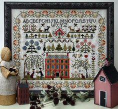 Red House Sampler from the Sampler Company / Brenda Keyes