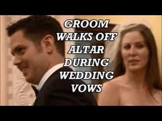 Surprise. Groom walks off altar during wedding vows. Step daughter - YouTube