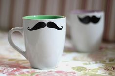 Two Bee: [DIY] Caneca Moustache ♥