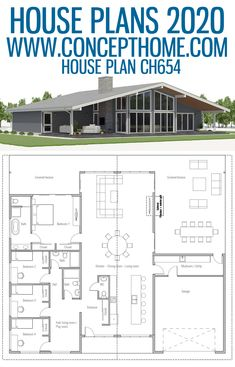 House Plan – Home One Floor Design Simple Floor Plans, Modern House Floor Plans, Garage Floor Plans, Farmhouse Floor Plans, Home Design Floor Plans, Barn House Plans, Bedroom House Plans, Dream House Plans, Small House Plans