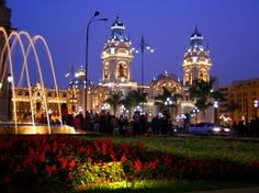 Colonial Lima (or downtown) at night is just magical! I love being there with my family.