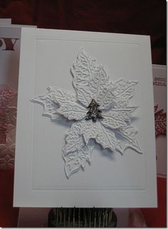 All white Christmas Card I made.