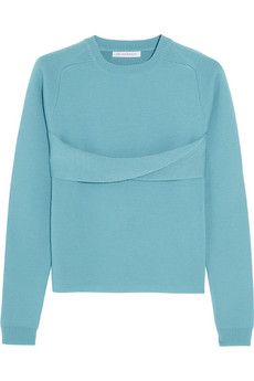 J.W.Anderson Twist-front merino wool sweater | THE OUTNET