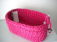 Diy Crochet And Knitting, Crochet Home, Baby Knitting, Cotton Cord, Crochet Storage, Loom Craft, Fabric Yarn, Crochet Purses, Crochet Projects