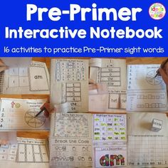 This is all 8 weeks of the Pre-Primer Sight Word Interactive Notebook Packs! Each week focuses on 6 Pre-Primer Sight Words. After the 8 weeks, your students will have learned all Pre-Primer Sight Words in a fun and interactive way! The activities include: - sorting sight words - writing sight words - I Spy - Break the code - Word Search - ABC Order - Roll, Write, Graph - Building Sight Words - Unscrambling Sight Words - Decorate Sight Words - Trace and Highlight - Spin, Read, Write - and…