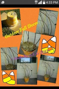 Outdoor Fall Decor.-Look for instructions on my FB page link located on top of my pinterest page. -Anna E.G.