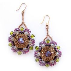 All is groovy with JeannieRichard's refined take on the hippy-dippy flower! Hand-stitched bead by bead, nothing really resurrects or celebrates the cheer of summer better than a pair of delightfully upbeat accessories like the Spanish Bohemian Flowers Earrings. $43