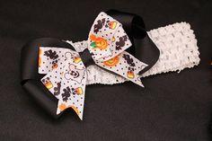 Mickey Halloween Inspired Hair Bow Headband.