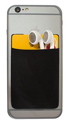 Qimius Stick on Wallet - Cell Phone Case Wallet with strong 3M adhesive tape (Black) - High Quality Fabric - A Must have Multi-Purpose Pocket - Do you keep looking for your credit card in your wallet every time you shop or at the convenience store?Do you find it a hassle to look for your ear-phones when you need them?Are you a sales man or someone who regularly uses business cards for introductions?Do you go through your big purse to... - http://ehowsuperstore.com/bestbrandsa