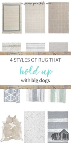 Four Rug Styles That Will Hold Up With Big Dogs You might think pet-friendly rugs just don't exist, but we've tested these four types over the years with great results. Includes 12 animal friendly options for your home right now.