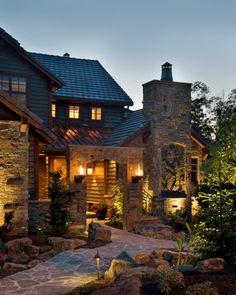 Mountain Home by B.L. Rieke Custom Home Builders.