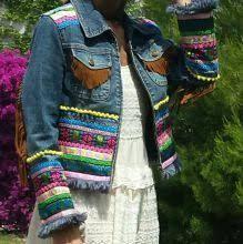 Resultado de imagen de chaquetas vaqueras decoradas