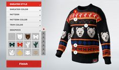 """Thinking outside the box: Coca-Cola has launched the """"Coke Zero Sweater Generator"""" an interactive site that allows consumers to create their own ugly sweater. Encouraging social interaction, users can share their sweaters via social media and at the end of the promotion, the top 100 sweaters, based on voting, will be produced."""