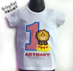 Personalized Circus Lion Birthday Design