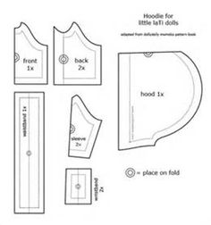 hoodie pattern for laTi dolls | Flickr - Photo Sharing!