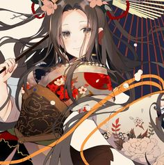 Anime Girl Kimono, Female Avatar, Girls With Black Hair, Anime Characters, Kawaii, Animation, Cool Stuff, Yukata, Anime Girls