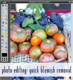 quick blemish removal with Pixlr and PicMonkey