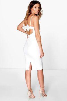 eef04ff461822 boohoo.com Boohoo Dresses, Calf Length Dress, Bow Back, Dresses For Sale